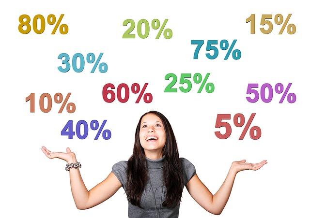 procenta nad dívkou