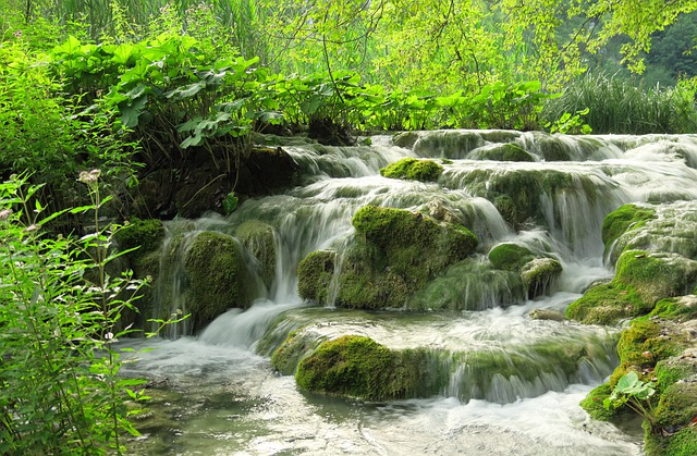 vodopád plitvická jezera