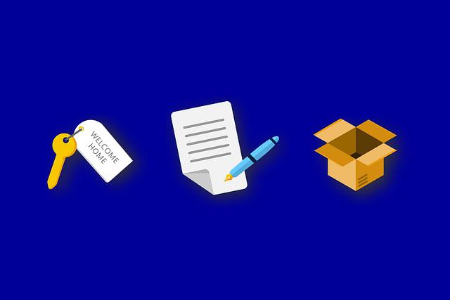 příprava na stěhování (klíče, seznam a krabice)
