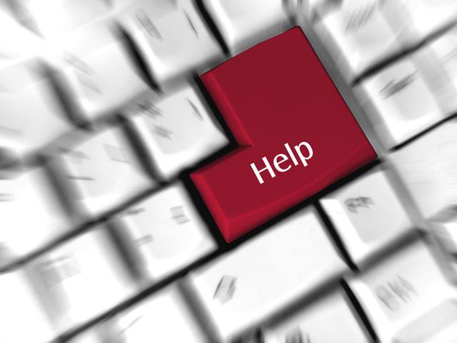 """červené tlačítko """"pomoci"""" na klávesnici"""