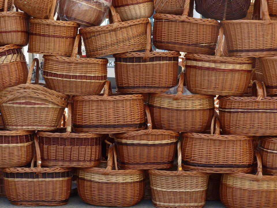 ratanové košíky